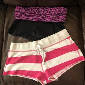 VS Pink athletic shorts bundle, M